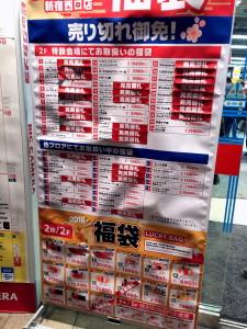 ビックカメラ新宿西口店2016年1月1日18時頃福袋販売状況