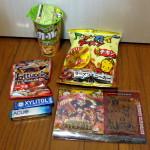 お菓子5点中身公開(セブンイレブン限定ワンピース菓子バッグ)